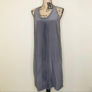 EILEEN FISHER Gray Silk Midi Dress (M)